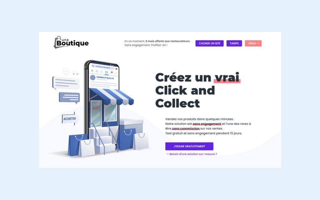 Solution pour créer un click and collect